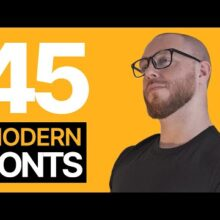 45 Modern Fonts You NEED! (Free Commercial Use)